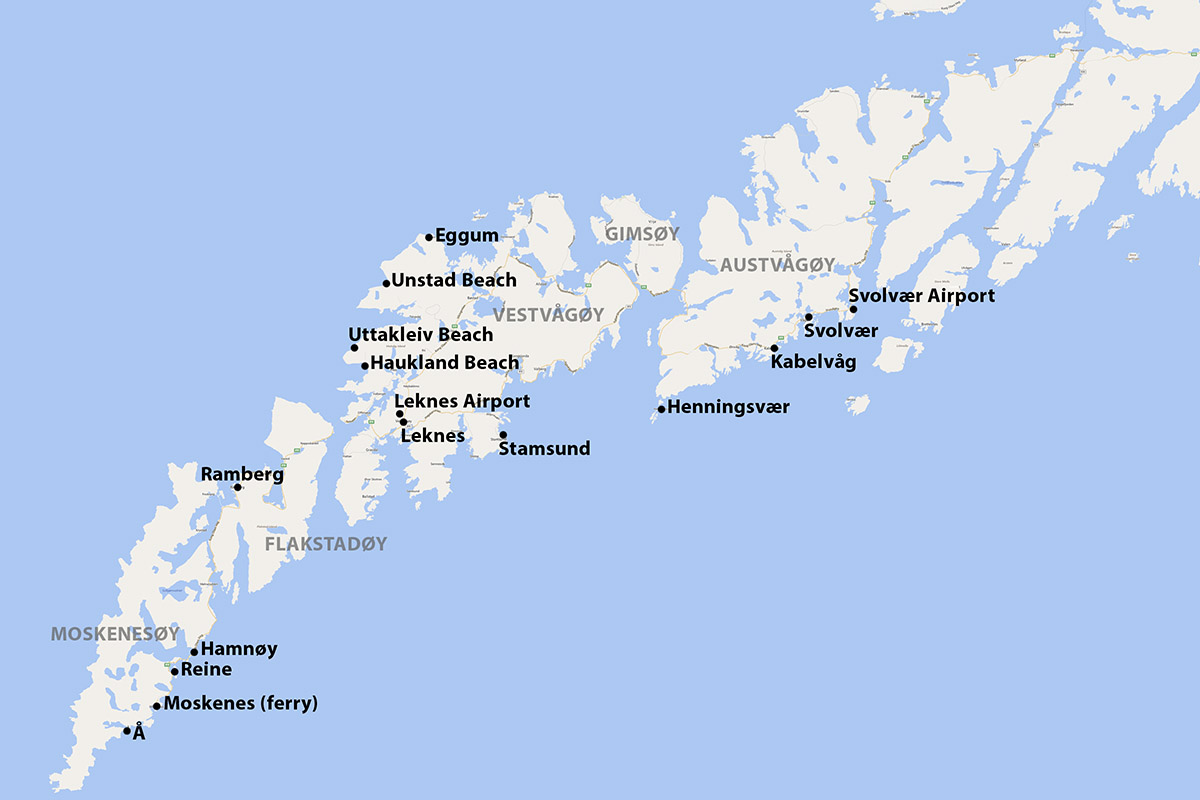 Lofoten Islands Map Getting around the Lofoten Islands by Car or Bus | 68 North
