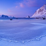 Haukland beach, Lofoten Islands, Norway