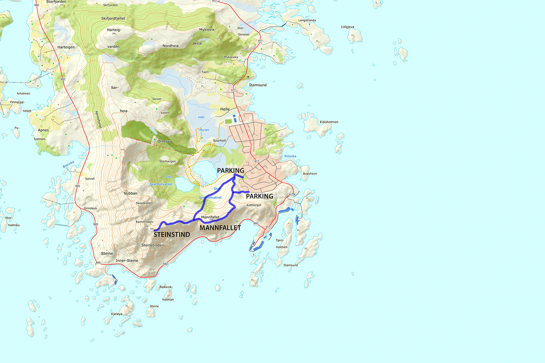 Steinstind Hiking Map