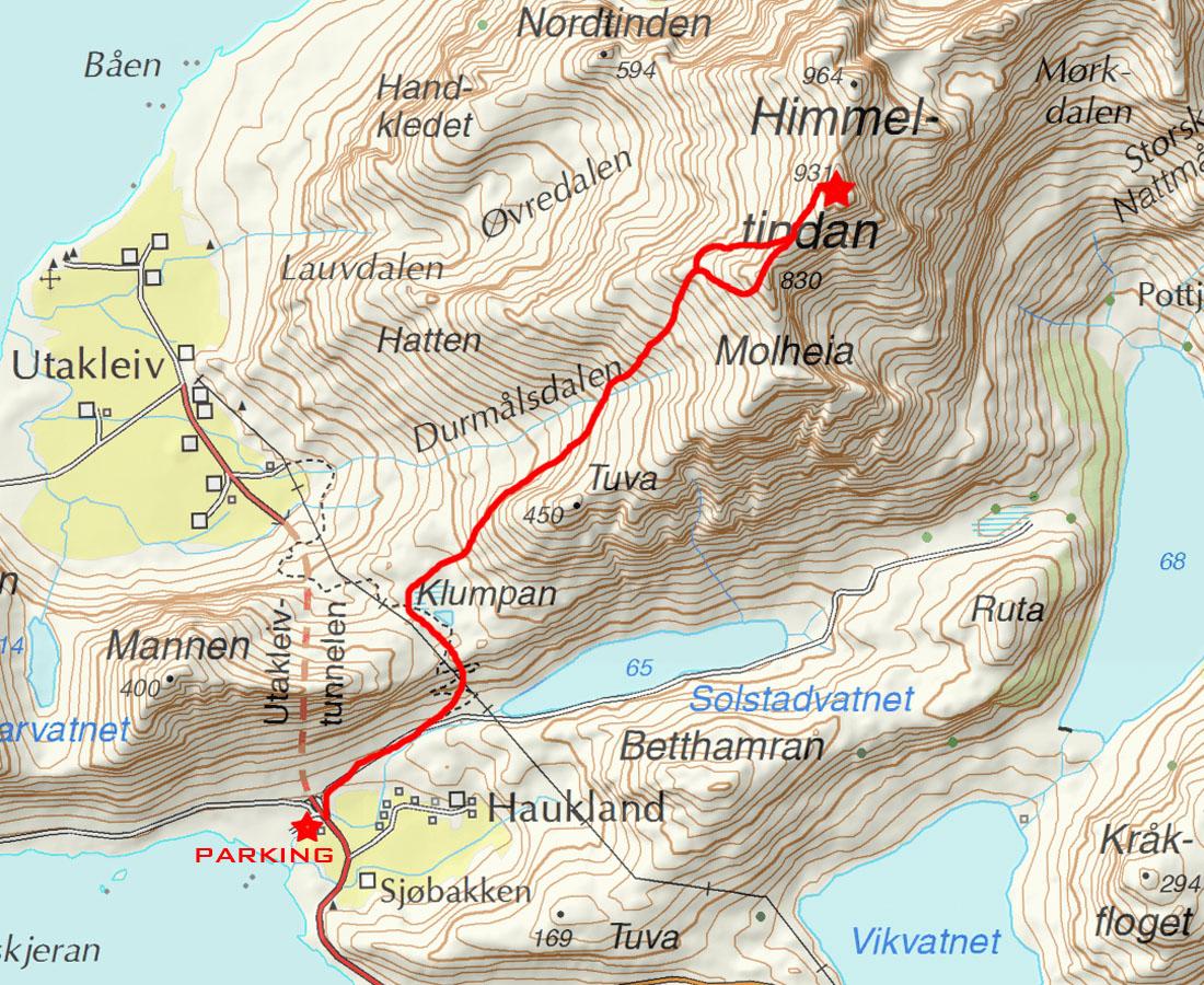himmeltindan map
