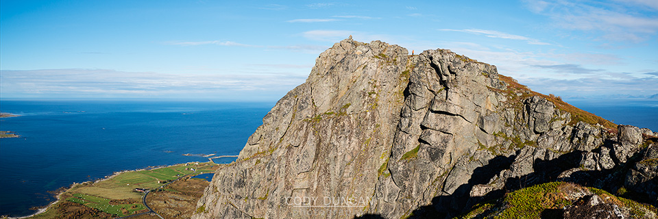 Summit of Hoven, Gimsoya, Lofoten Islands, Norway
