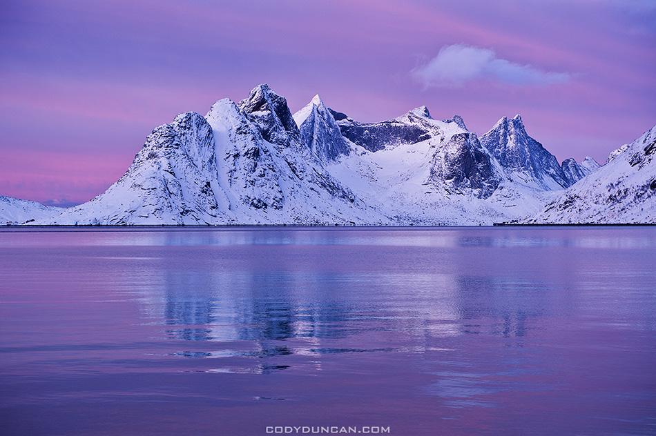 Winter Lofoten Islands Landscape