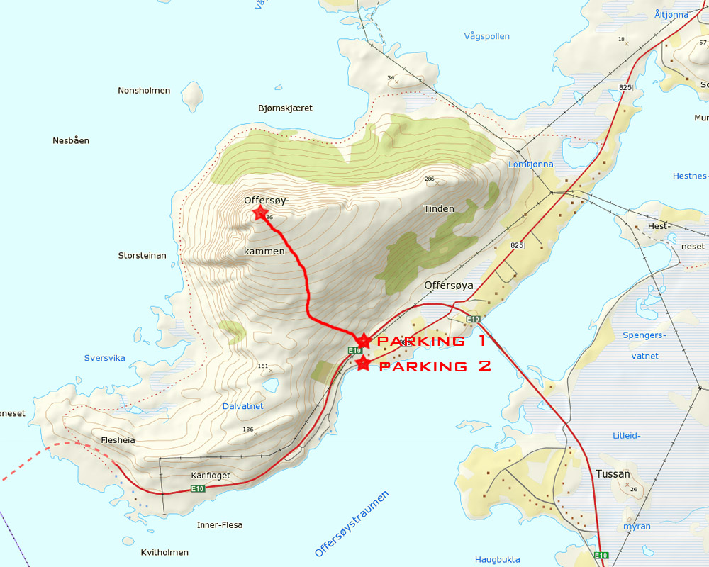 offersoykammen hiking map