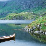 Boats at Rest, Agvatnet, Lofoten Islands, Norway