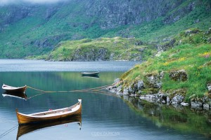 Boats at Rest, Agvatnet, Lofoten Islands, Norway