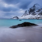 Haukland beach, Vestvågøy, Lofoten Islands, Norway