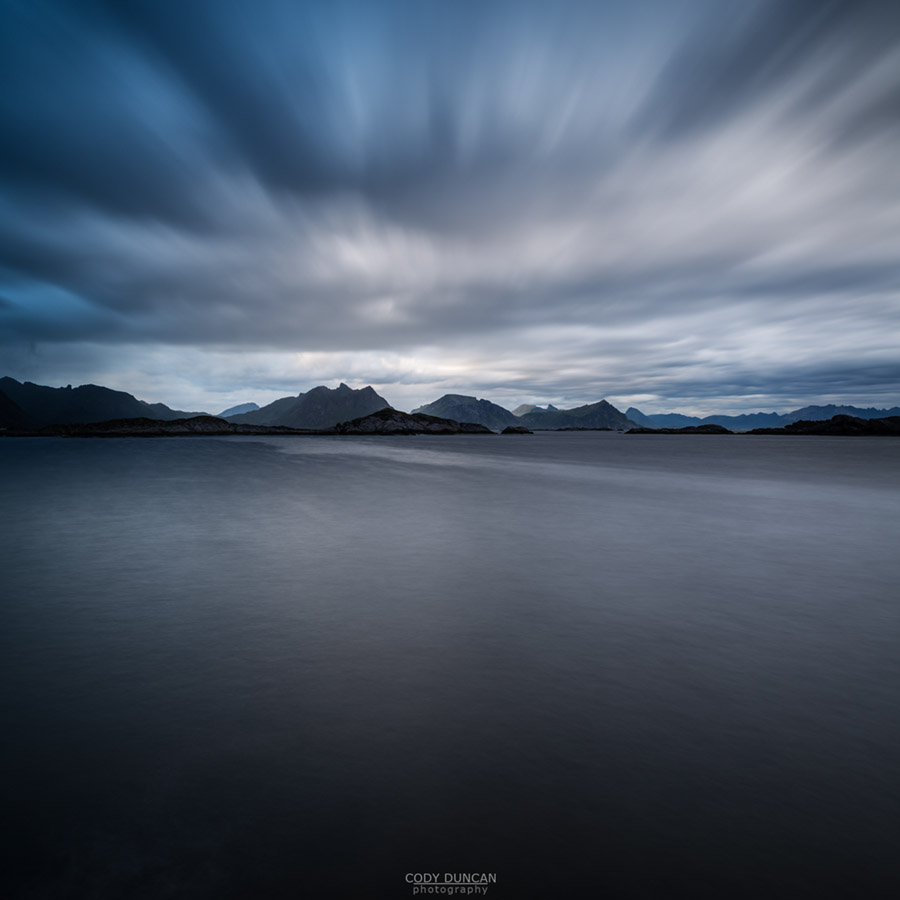 Dramatic sky over sea, Stamsund, Lofoten Islands, Norway