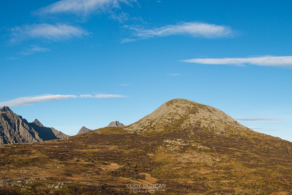 holandsmelen mountain hike Lofoten Islands Norway