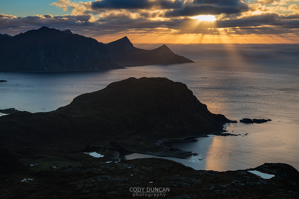 Holandsmelen summit view Lofoten Islands Norway