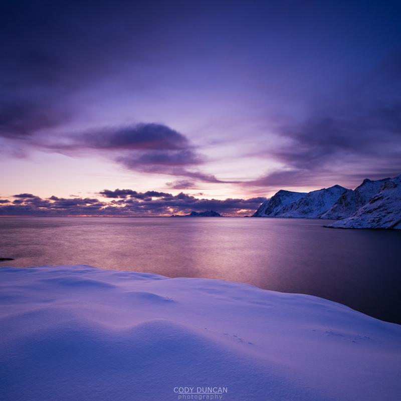 View from Å towards end of Lofoten, Moskenesøy, Lofoten islands, Norway