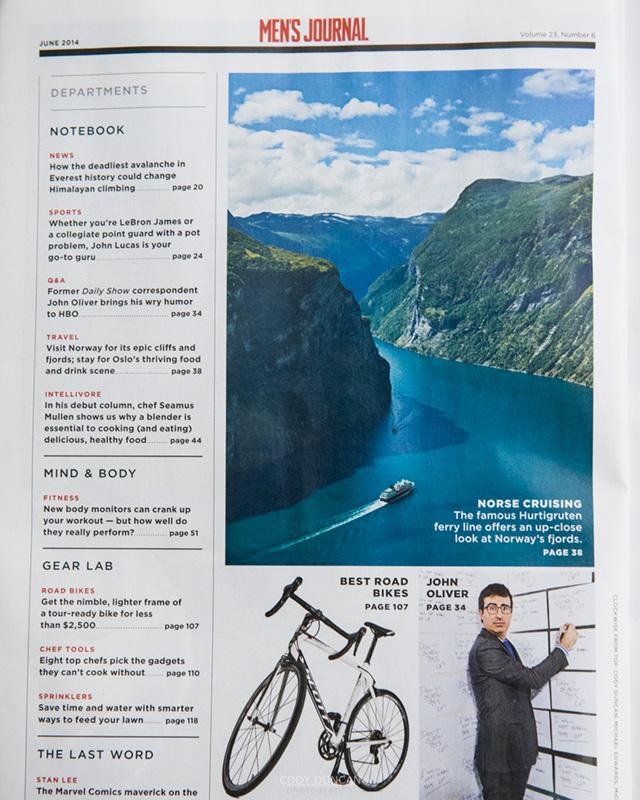 Geirangerfjord Norway Men's Journal Magazine