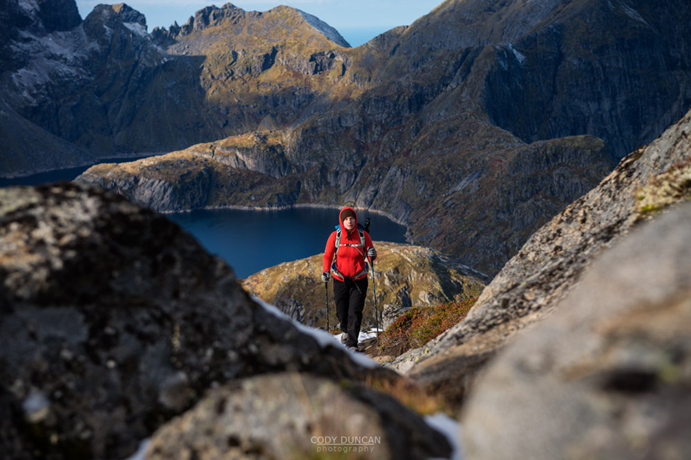 Hiking Munken Lofoten Islands Norway