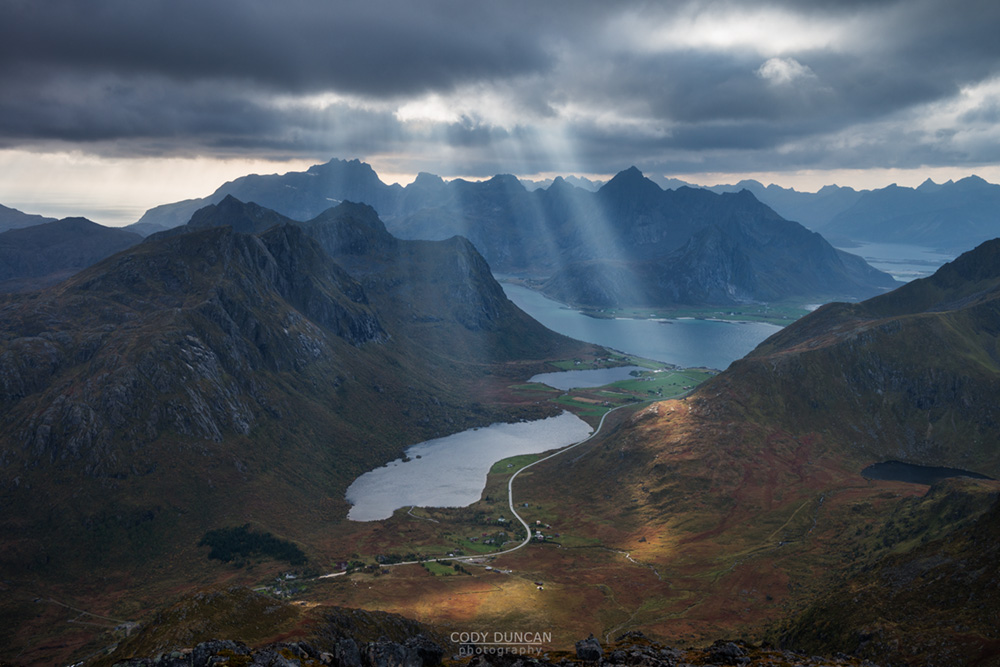Hiking Stornappstind, Lofoten Islands, Norway