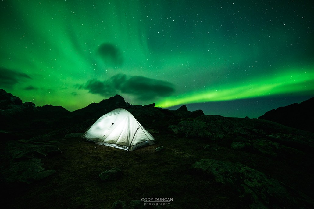 Northern Lights Fill Sky Over Tent Friday Photo 101
