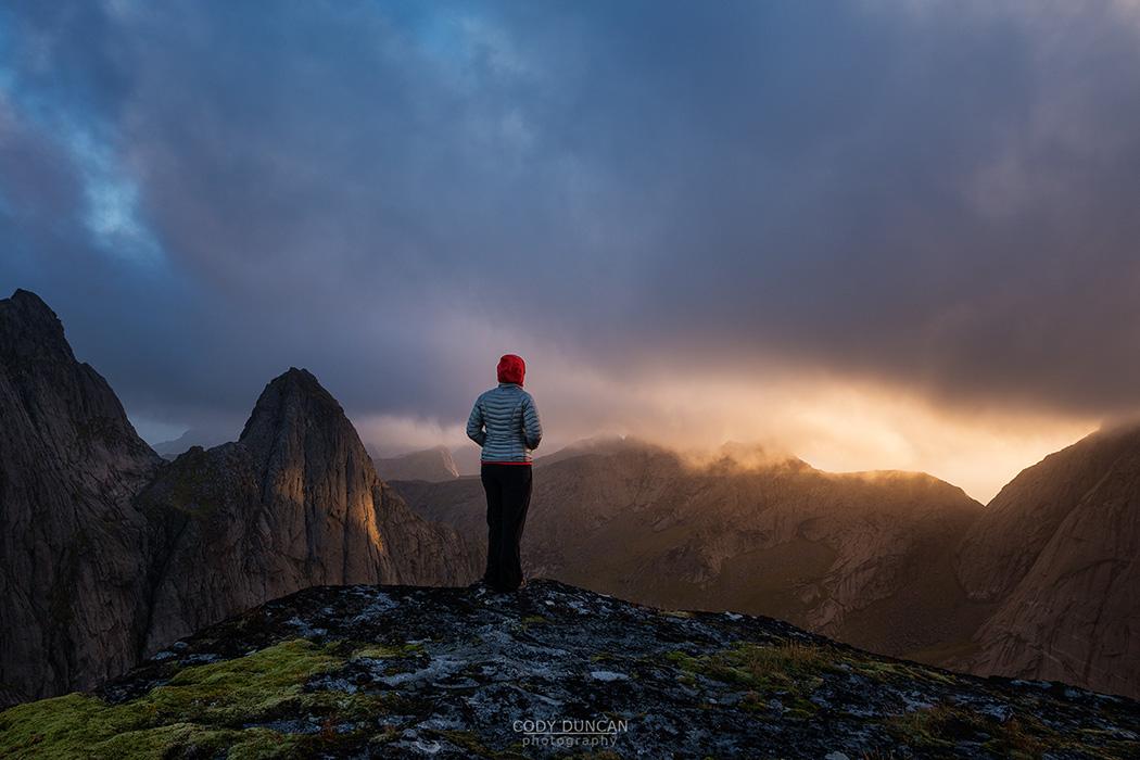 Summit of Markan, Lofoten Islands, Norway