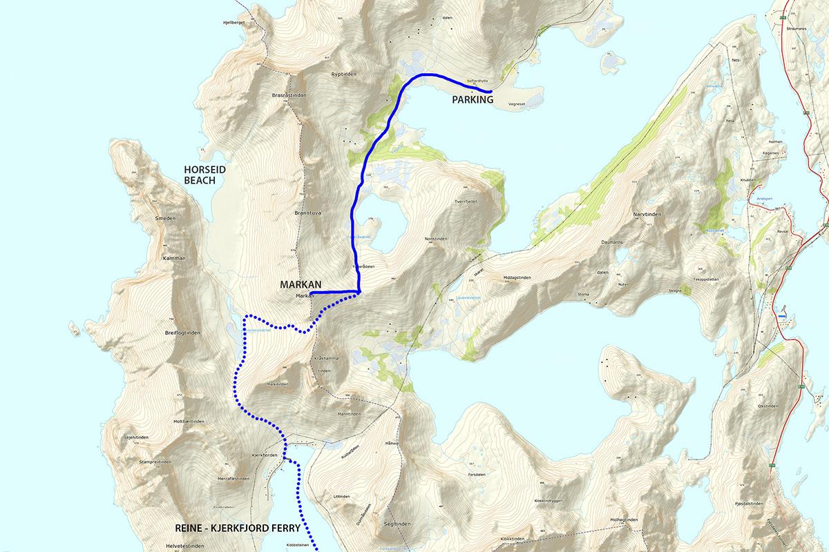 Markan mountain hiking map