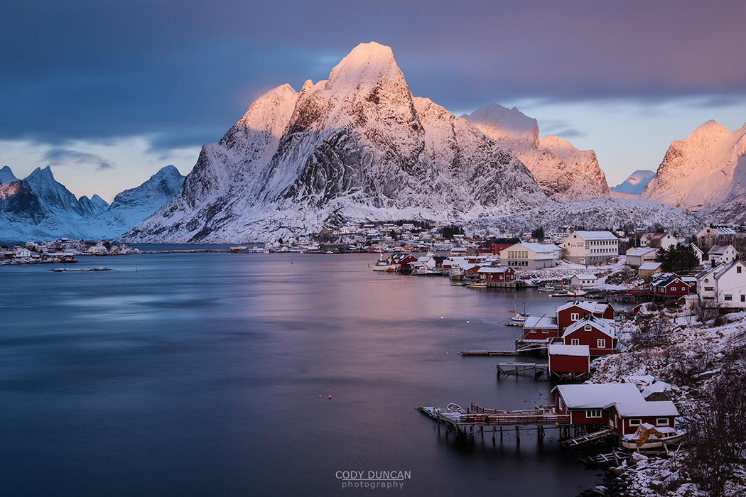 Reine Winter Sunrise, Lofoten Islands, Norway