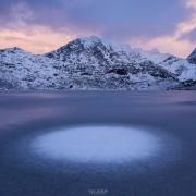 Vikvatnet winter, Lofoten Islands, Norway
