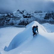 Hustind Winter Hike, Lofoten Islands, Norway