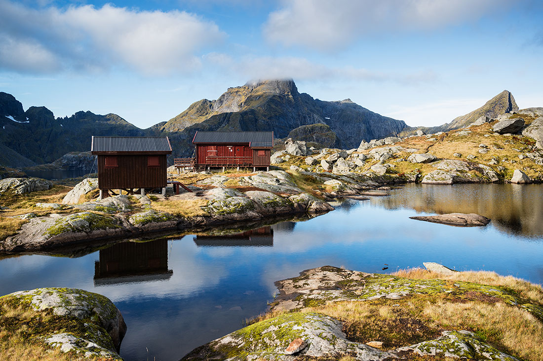 Munkebu mountain hut, Lofoten Islands, Norway