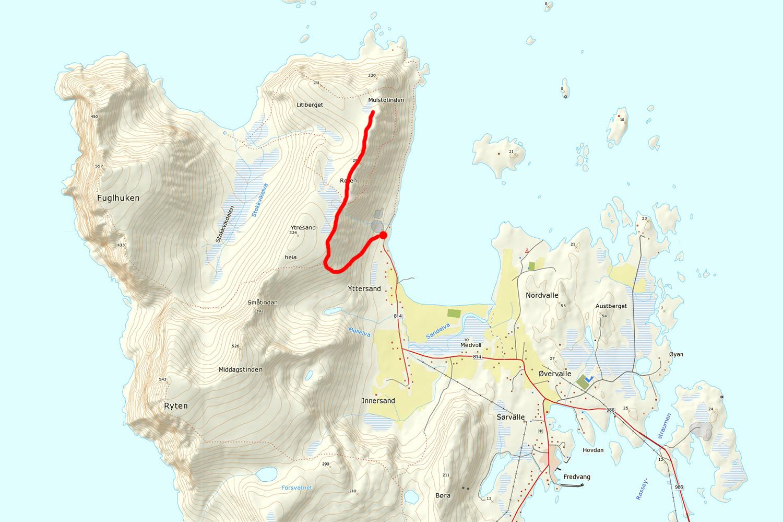 Røren - Ytresandheia hiking guide