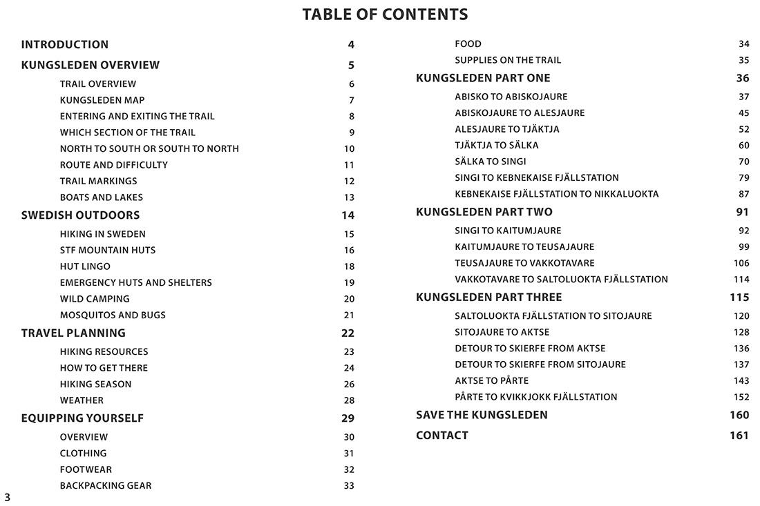 Inhaltsverzeichnis Kungsleden von Cody Duncan
