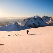 Ryten winter hike, Lofoten Islands, Norway