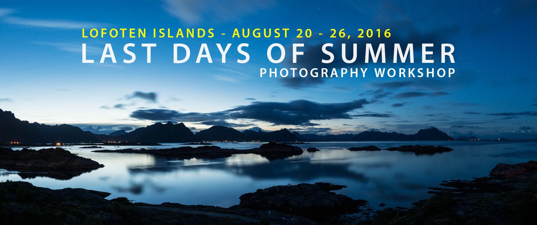 Lofoten Photo Workshop - Last Days of Summer 2016