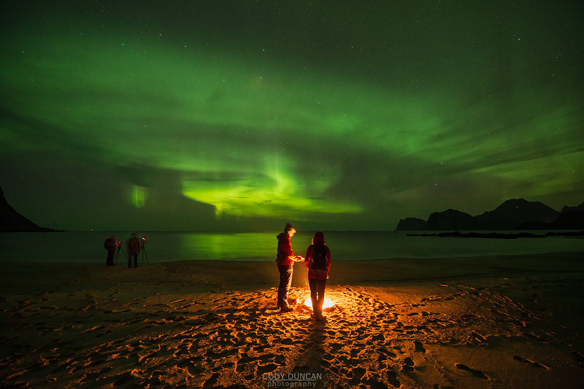 Campfire and Northern Lights - Friday Photo #250