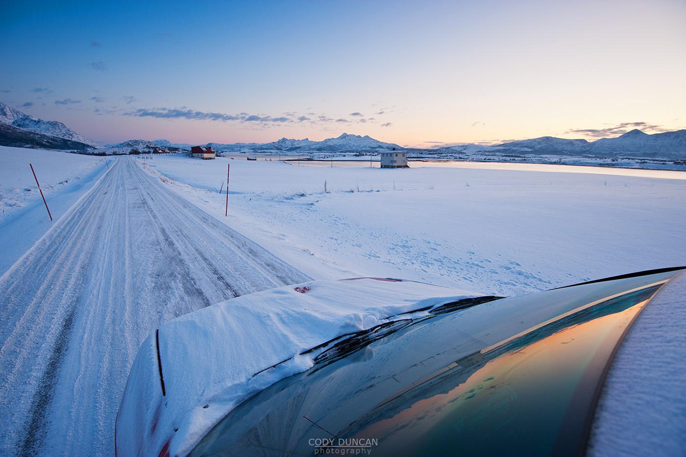 Winter Driving - Lofoten Islands, Norway