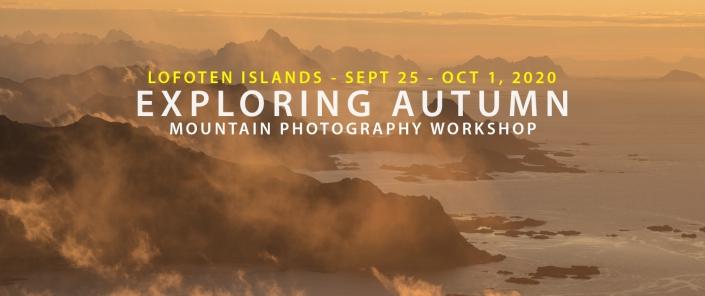 September 2020 Lofoten Mountain Photography Workshop - Exploring Autumn