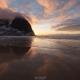 Kvalvika Beach Sunset - Friday Photo #428